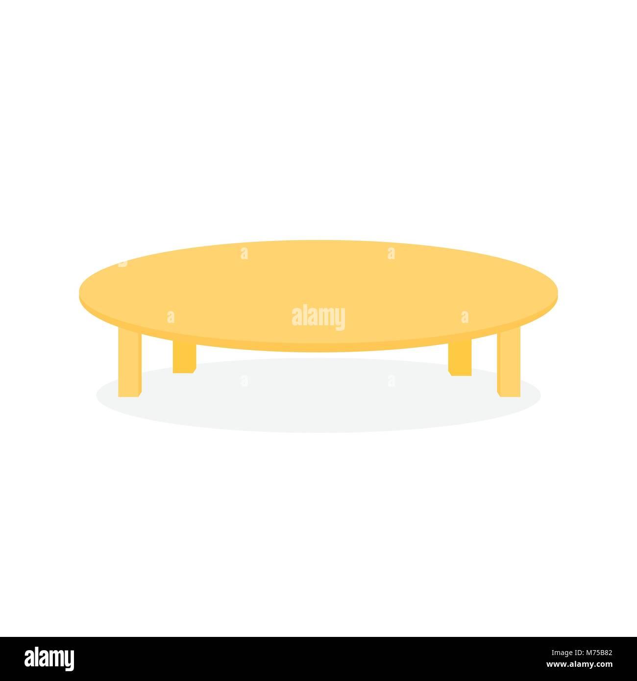 Einfache Holz Runder Tisch Möbel Vector Illustration Graphic Design
