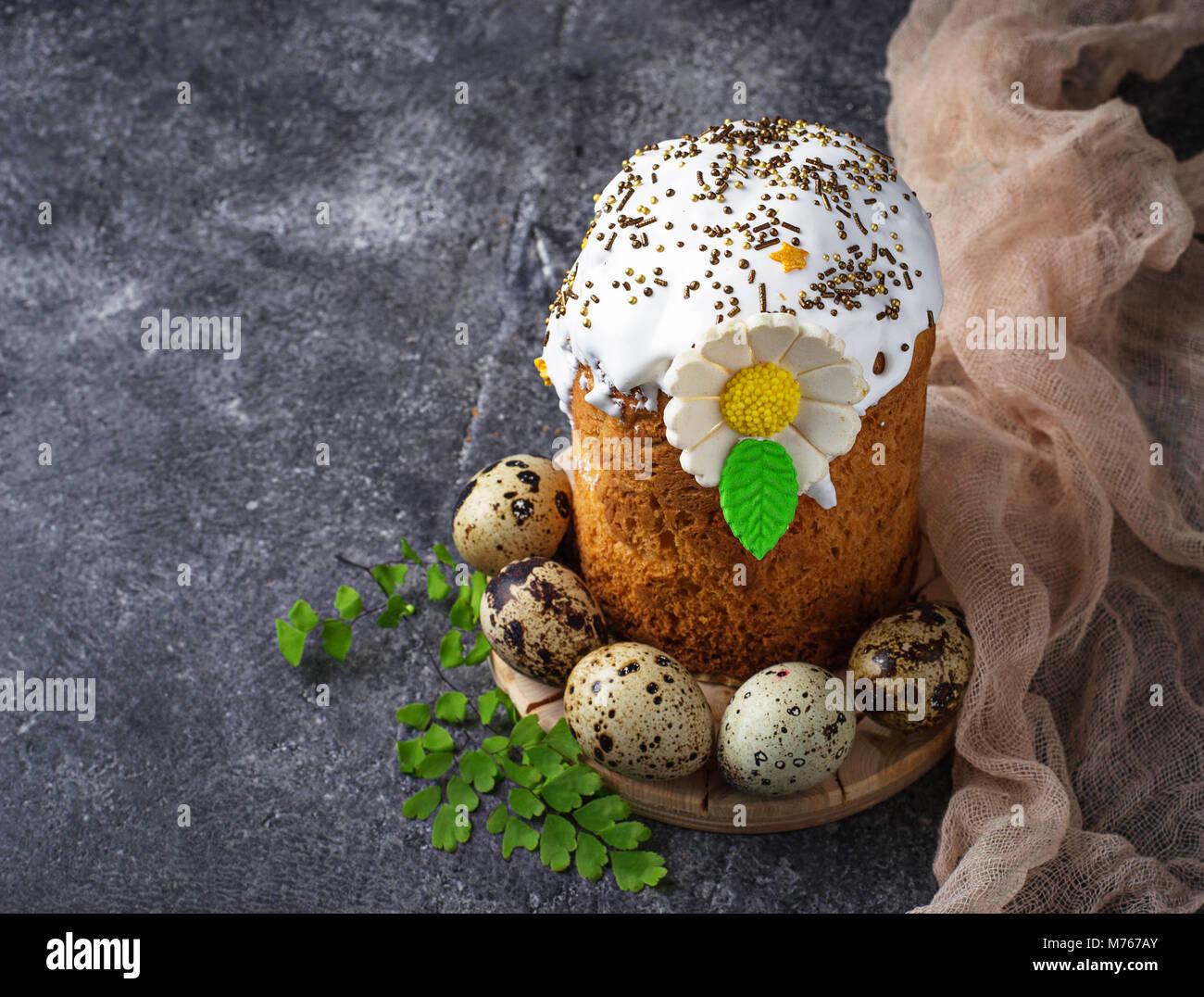 Schöne traditionelle Ostern Kuchen mit nachfüllen Stockbild