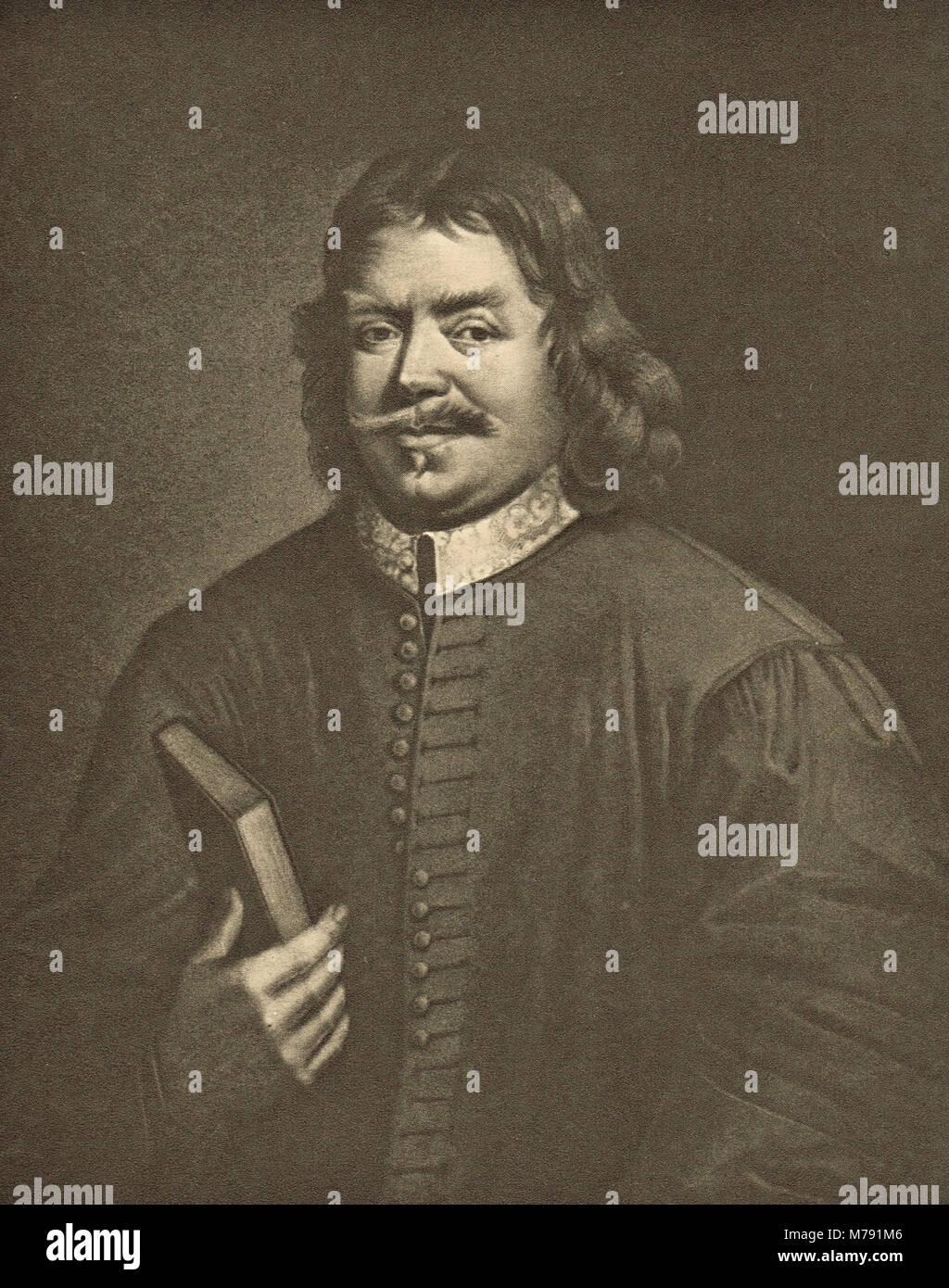 John Bunyan, englischer Schriftsteller, puritanische Prediger, Autor der Fortschritte des Pilgers Stockbild