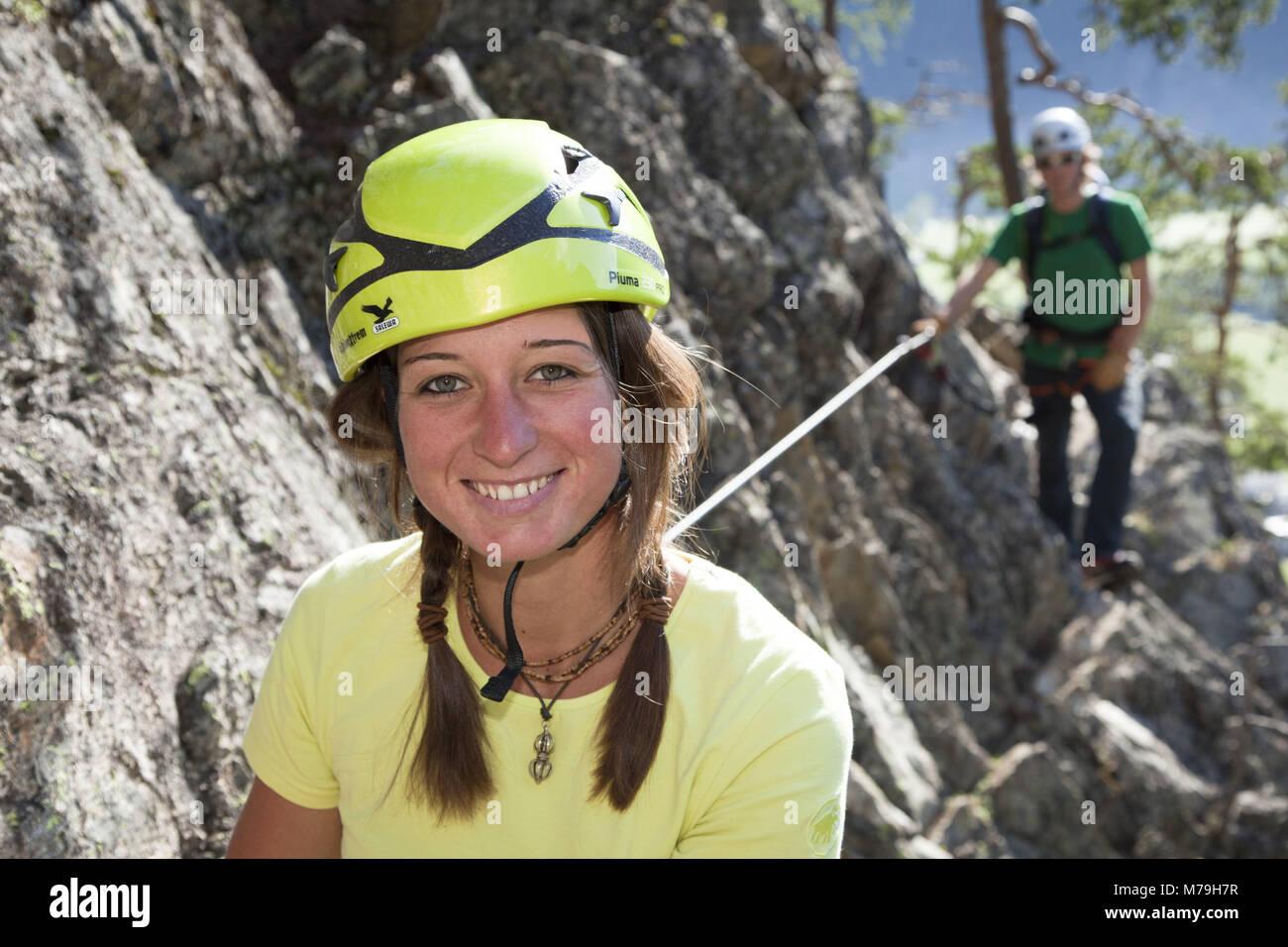 Klettersteig Lehner Wasserfall : Route klettersteig lehner wasserfall Ötztaler alpen tirol
