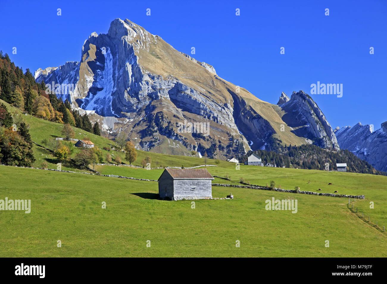 Schweiz, Schweizer Alpen, Appenzell, St. Gallen, Altmann, Alpstein Massivs, Stockbild