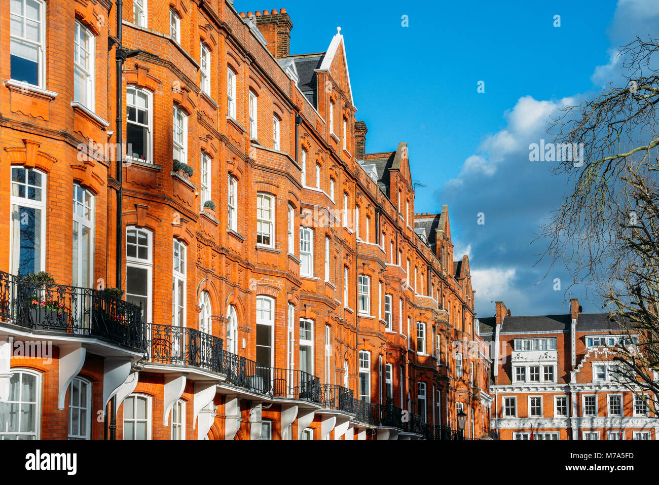 Teure Edwardian Block der Zeitraum Red Brick Apartments in der Regel ...