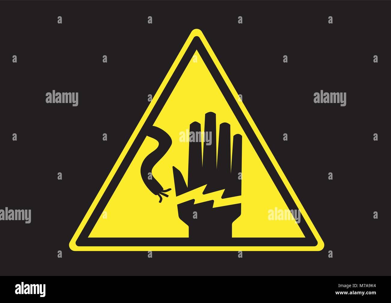 Warning Sign Danger Keep Out Stock Vektorgrafiken kaufen   Alamy