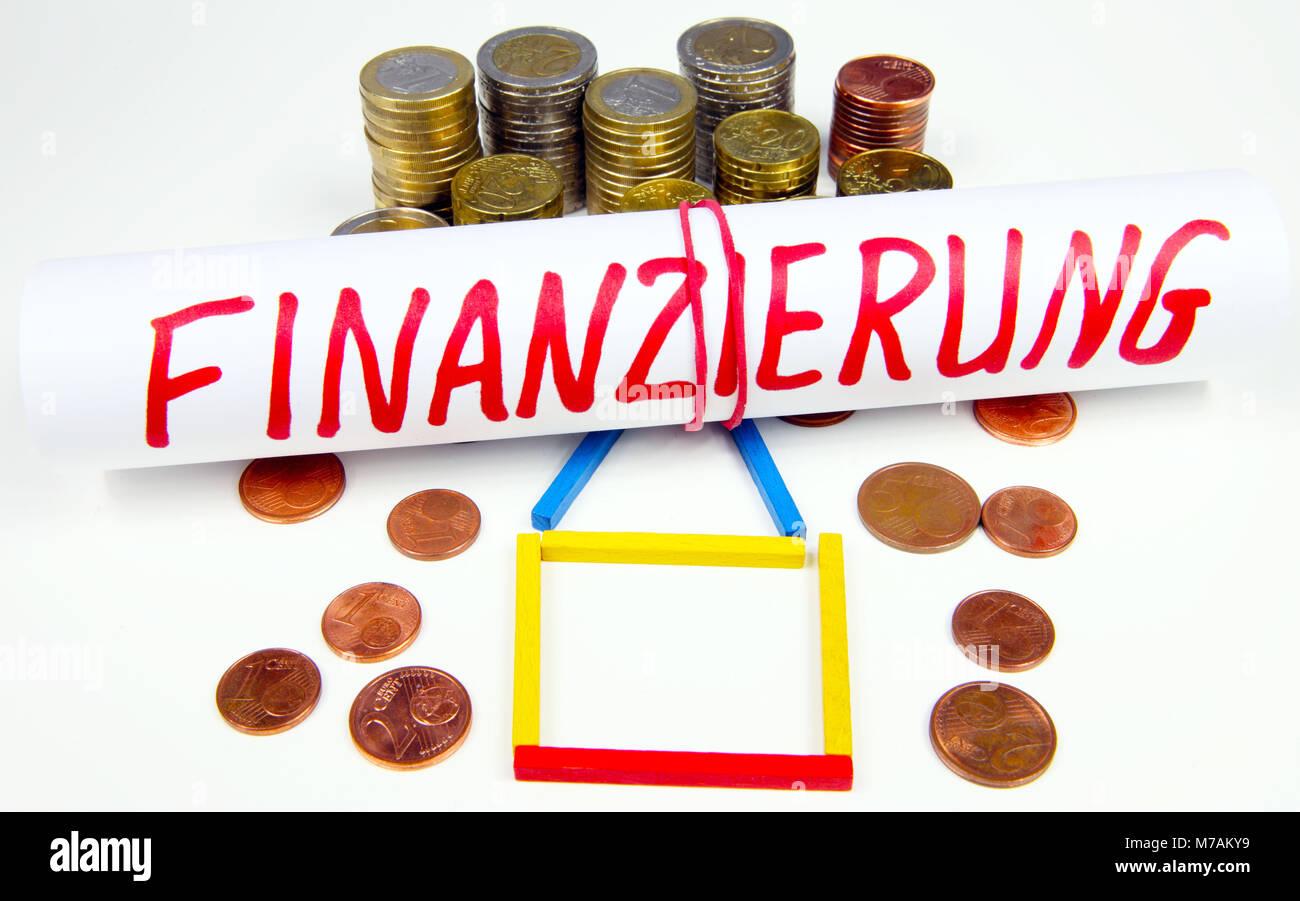 Genehmigte Haus Finanzierung Stockbild