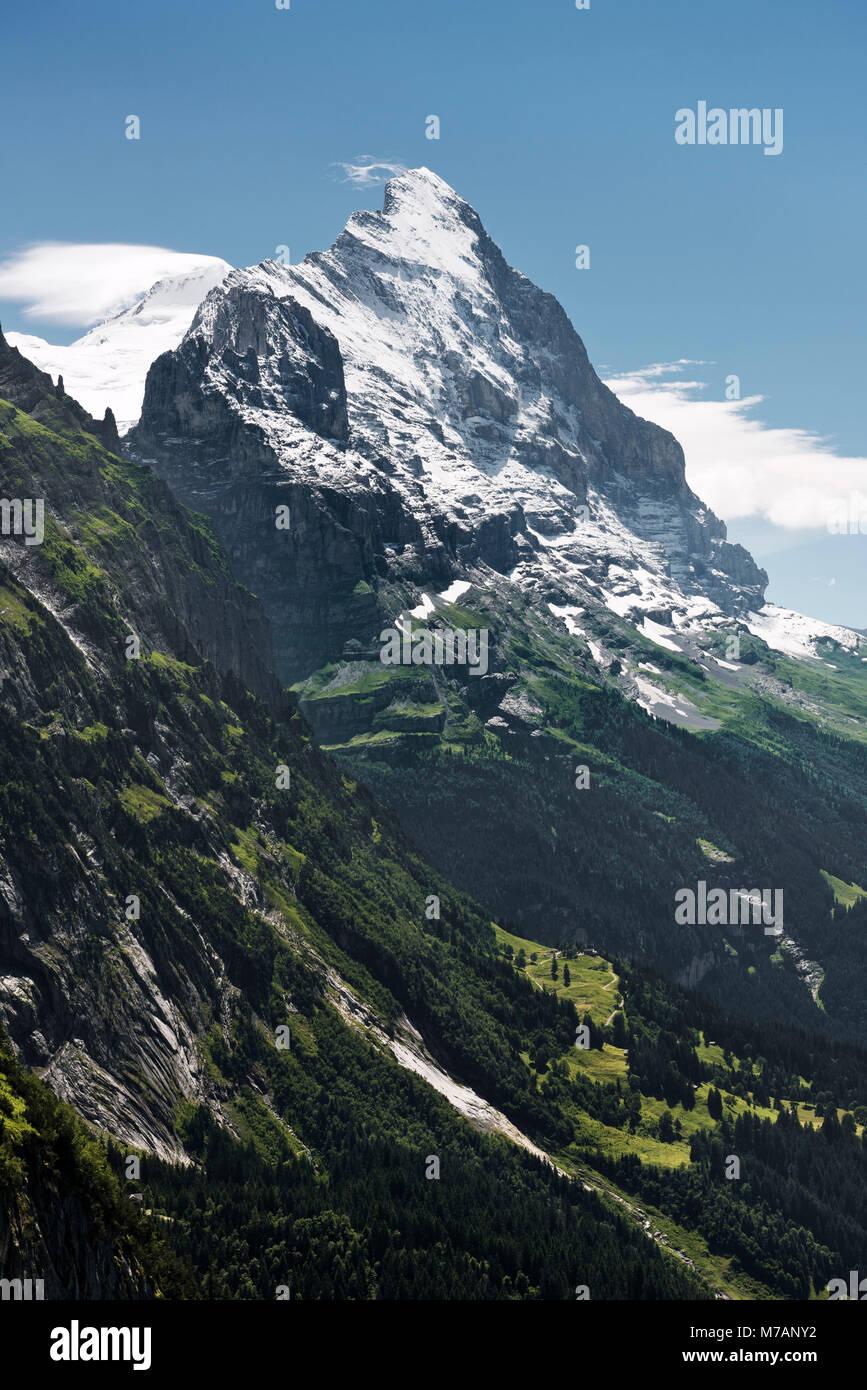 Nordwand des Eiger, Grindelwald, Kanton Bern, Schweiz Stockbild