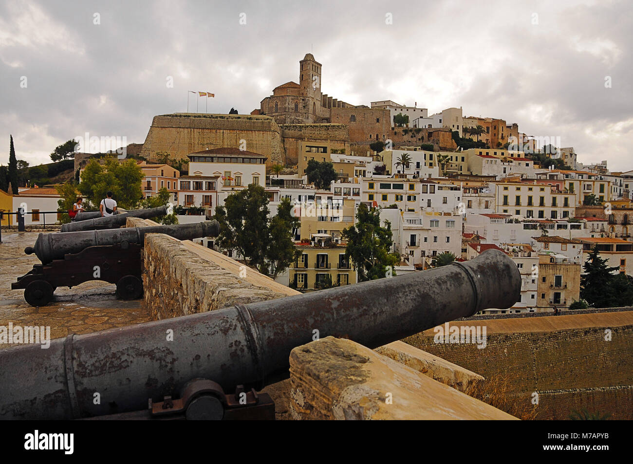 Ibiza, Spanien, Stadt, Stockbild