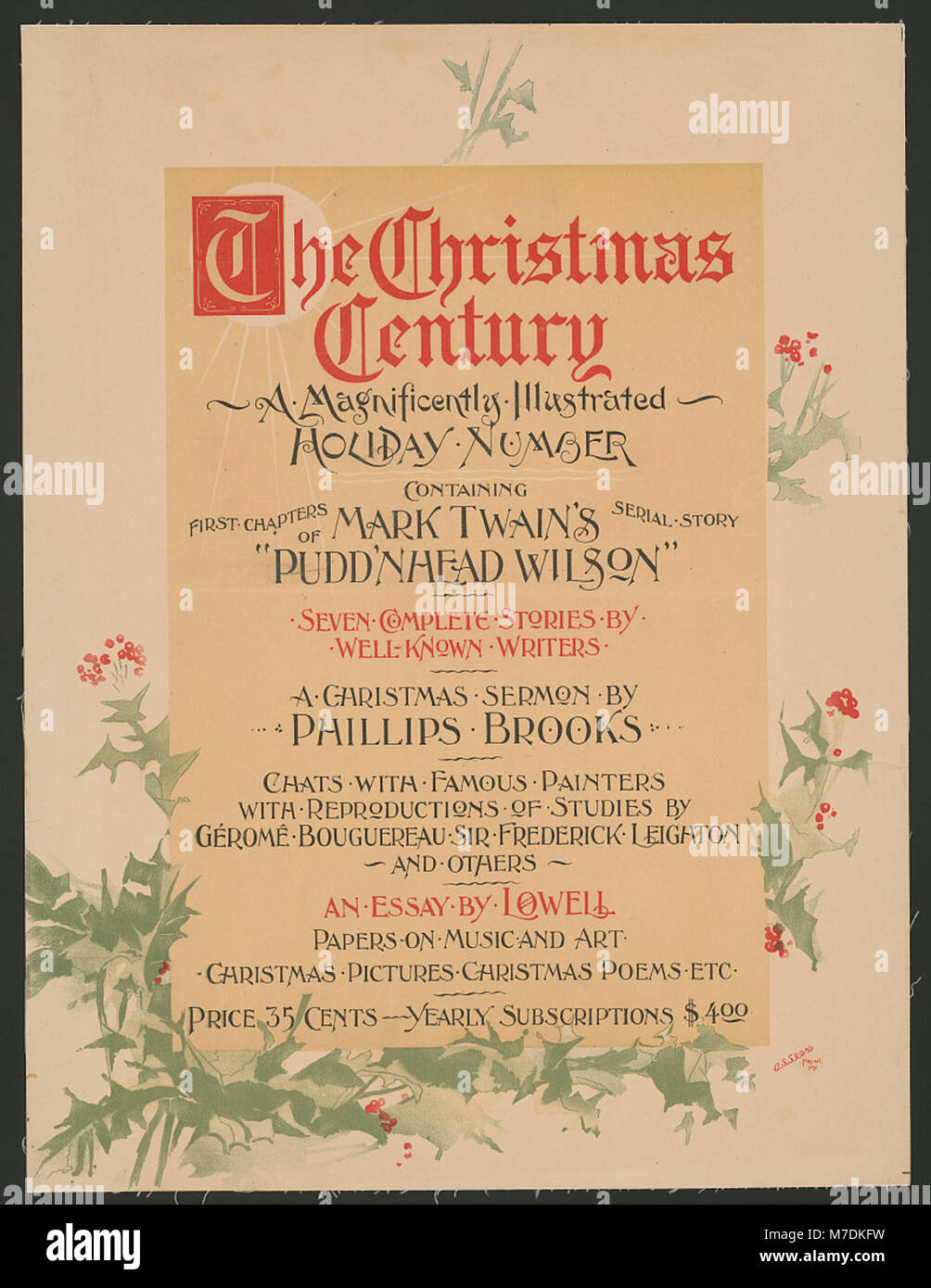 Weihnachten Jahrhundert, ein prächtig illustrierte Urlaub... LCCN ...