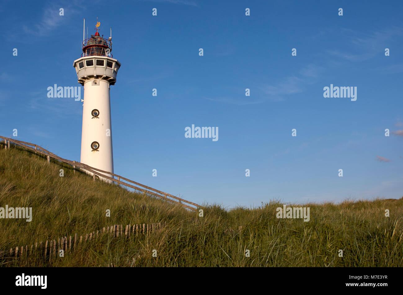 Leuchtturm Egmond aan Zee Stockbild