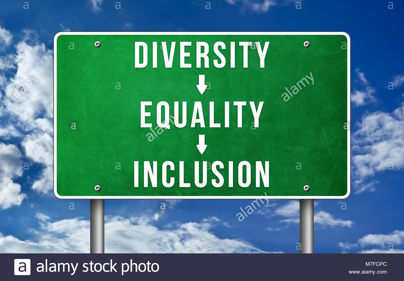 Vielfalt Gleichstellung Integration Stockbild