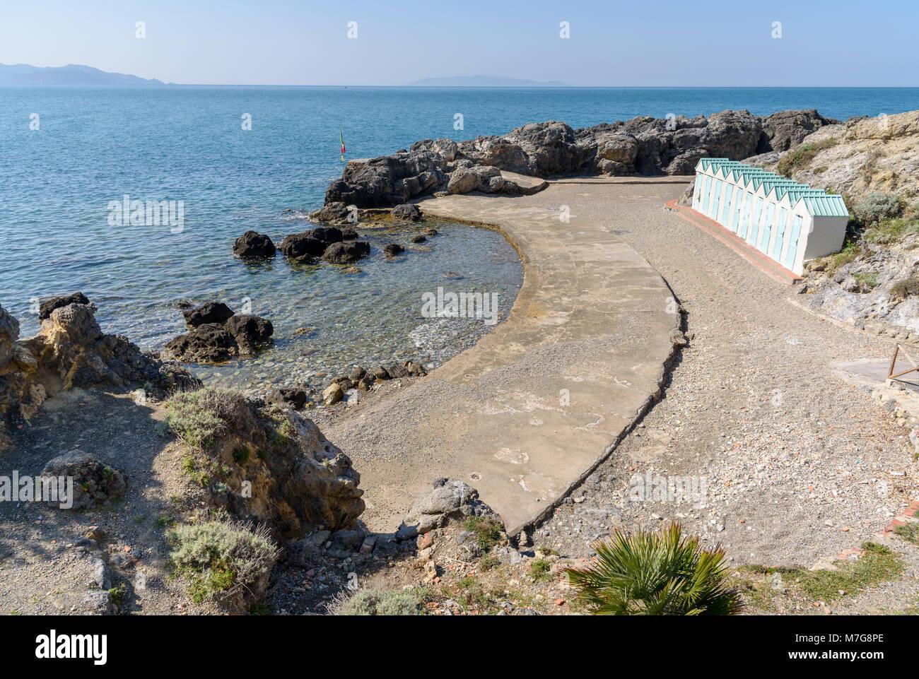Bagno delle donne strand argentario toskana italien stockfoto