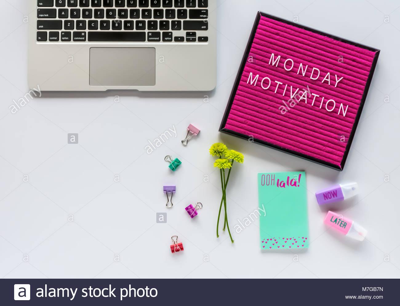 Laptop Tastatur Schreiben Board Mit Motivation Zitat Buro Zubehor