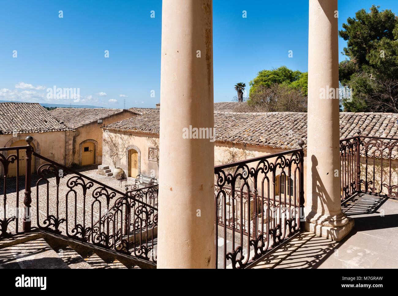 Chiaramonte Gulfi, Sizilien, Italien. Villa Fegotto (als Standort für den Inspektor Montalbano TV-Serie verwendet) Stockbild