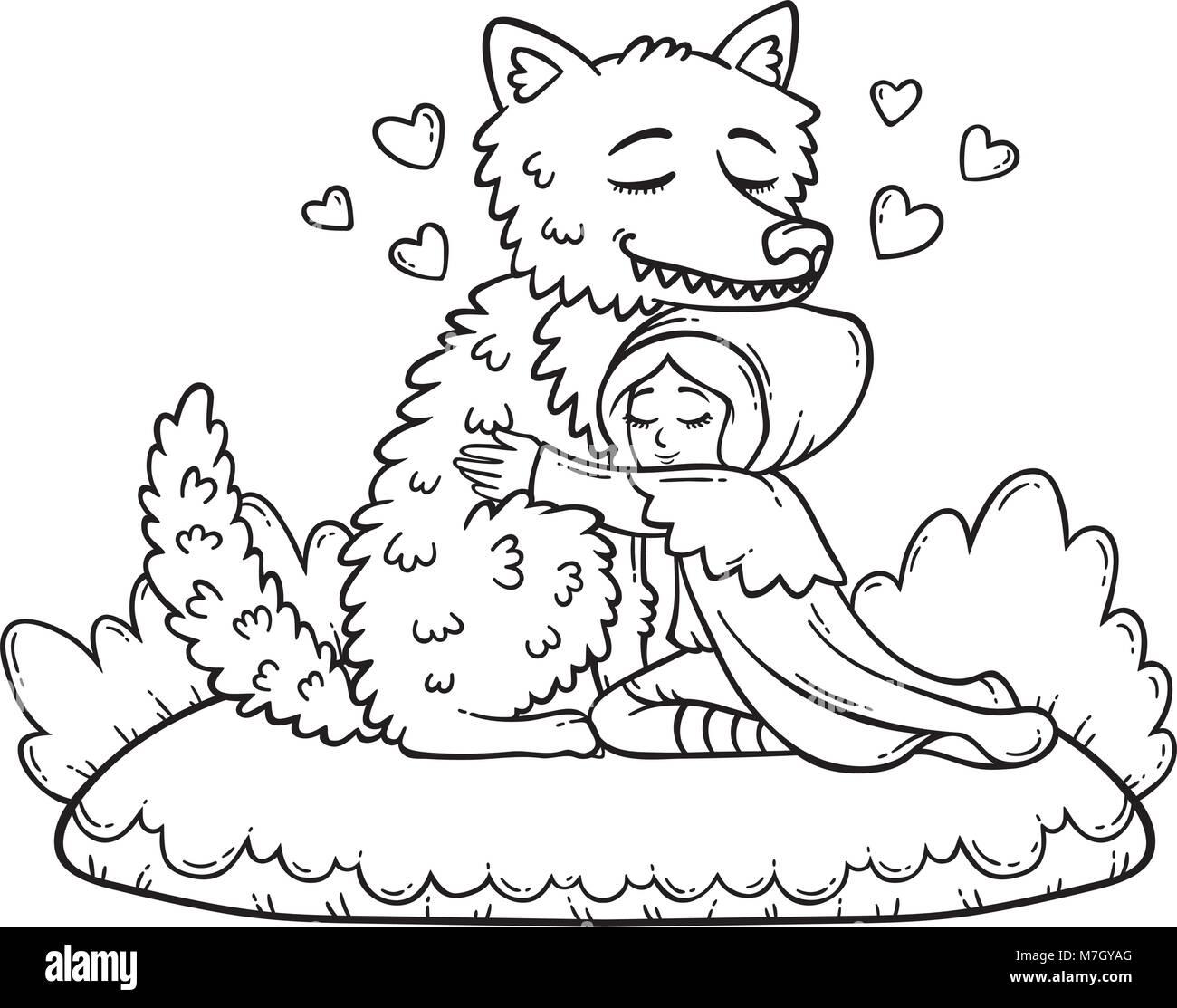 Illustration Bad Dog Coloring Book Stockfotos & Illustration Bad Dog ...