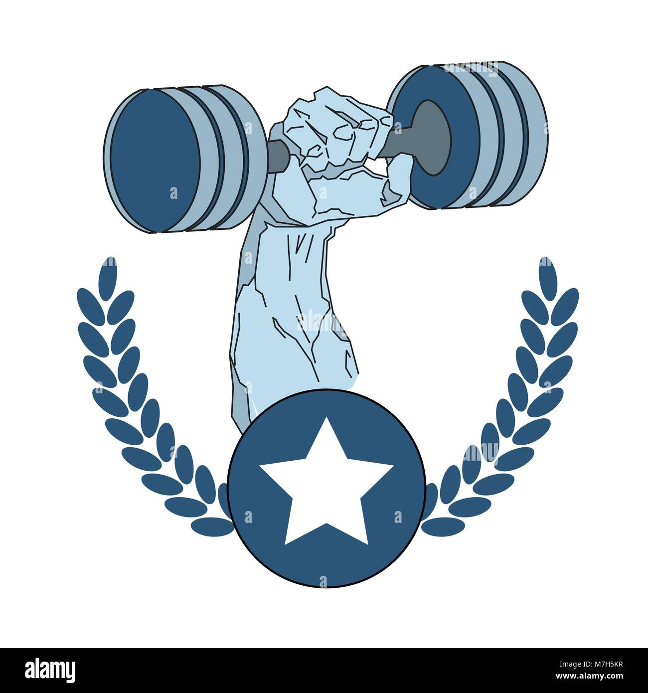 Gym Vector Logo Bodybuilder Bodybuilding Stockfotos & Gym Vector ...