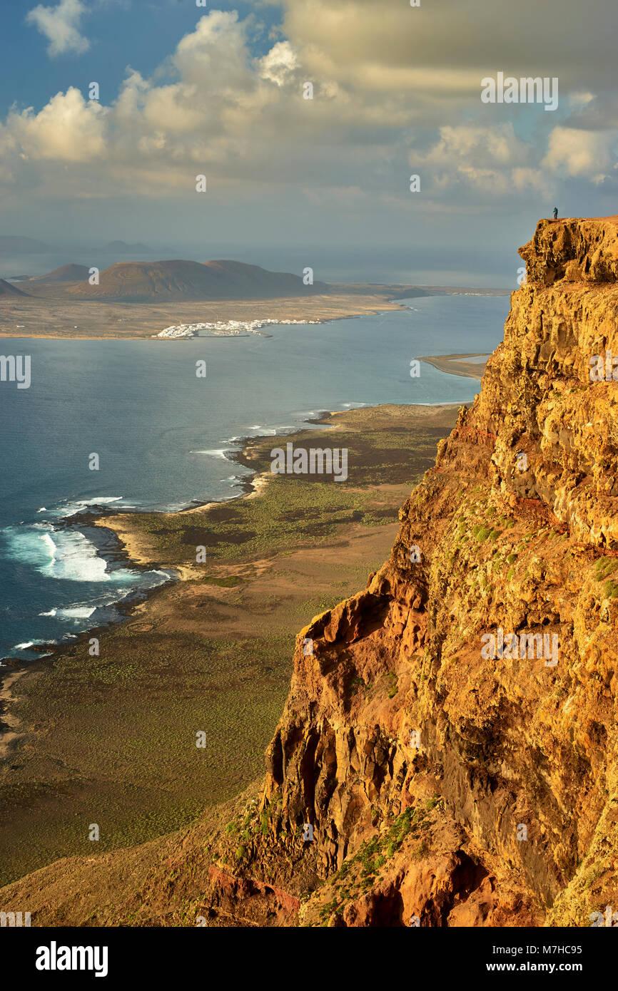 Isla Graciosa, Teil der Chinijo Archipel, aus der Nähe von Guinate, Lanzarote, Kanarische Inseln, Spanien Stockbild