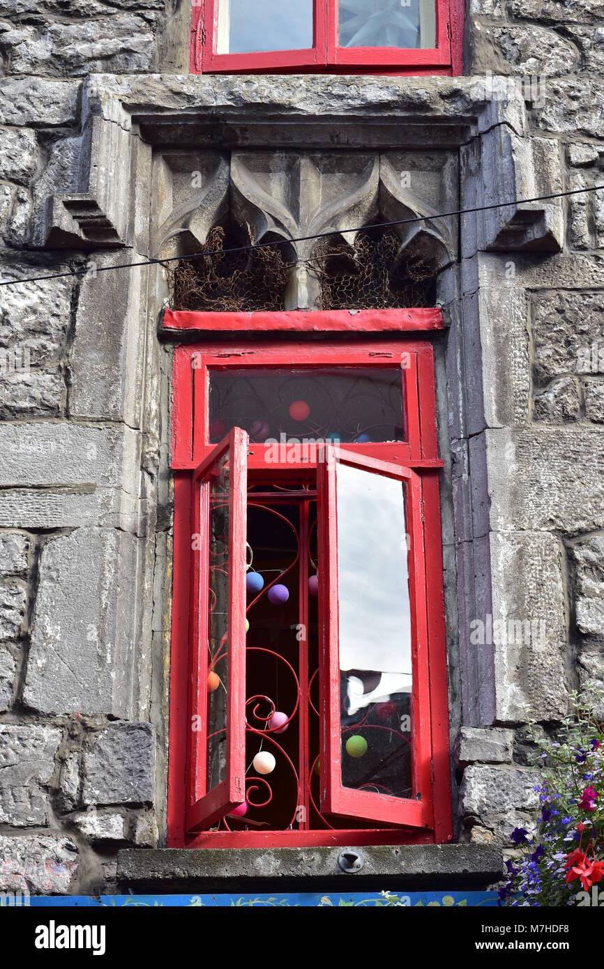Vintage rot lackierten Rahmen aus Holz Fenster anstelle der ...