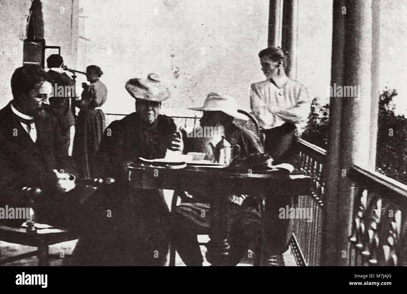 Sergenko, Petr Alekseevič - Tolstoj und Čechov-Dača von panina (1) Zeno Fotografie) Stockfoto