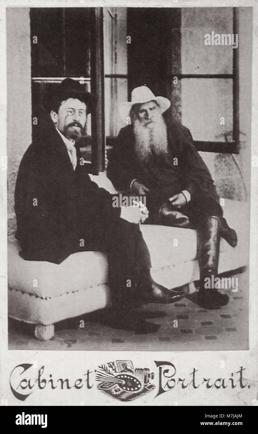 Sergenko, Petr Alekseevič - Tolstoj und Čechov-Dača von panina (2) Zeno Fotografie) Stockfoto