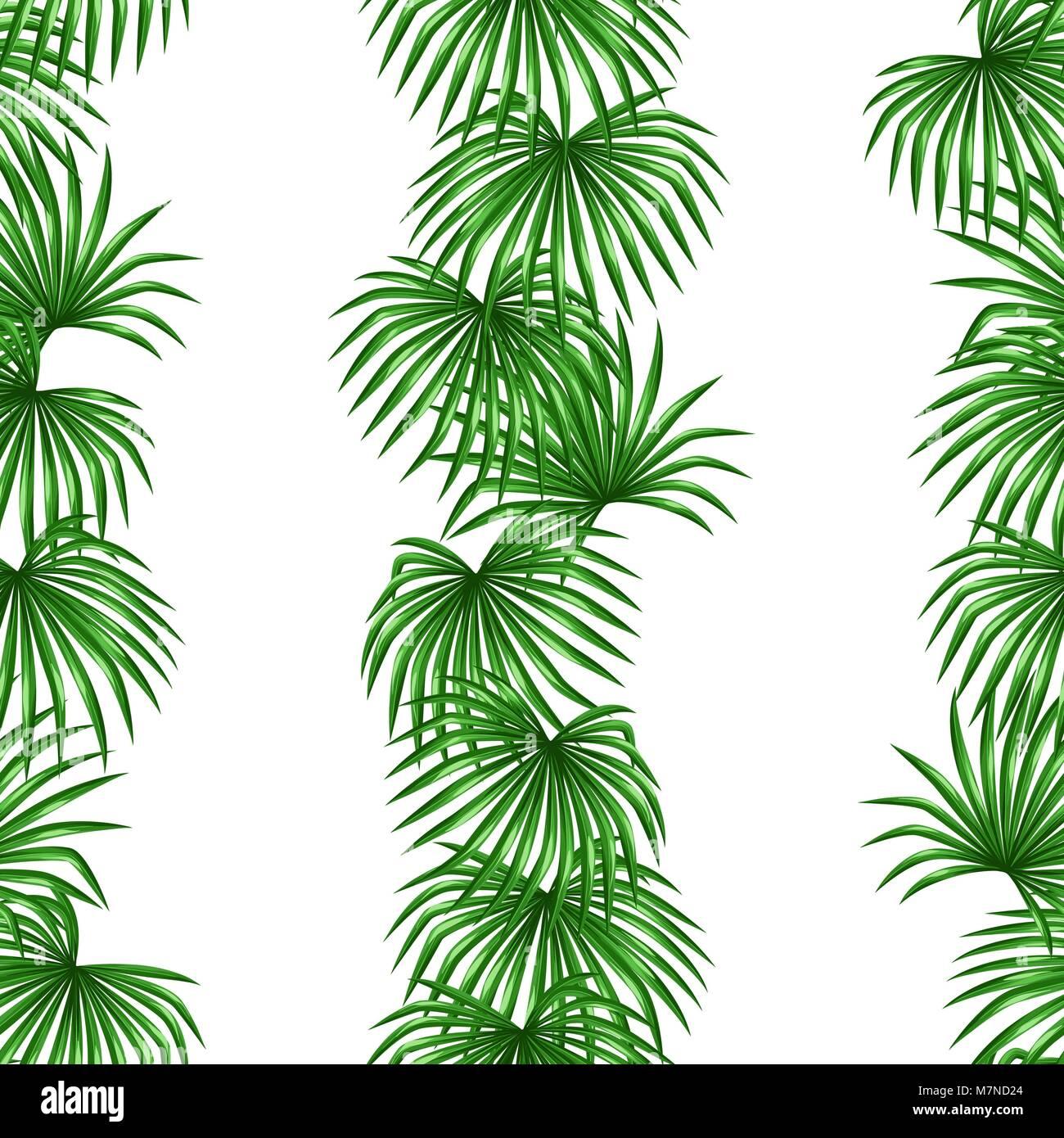 Nahtlose Muster Mit Palmen Blatter Dekorative Bild Tropischen Blatt