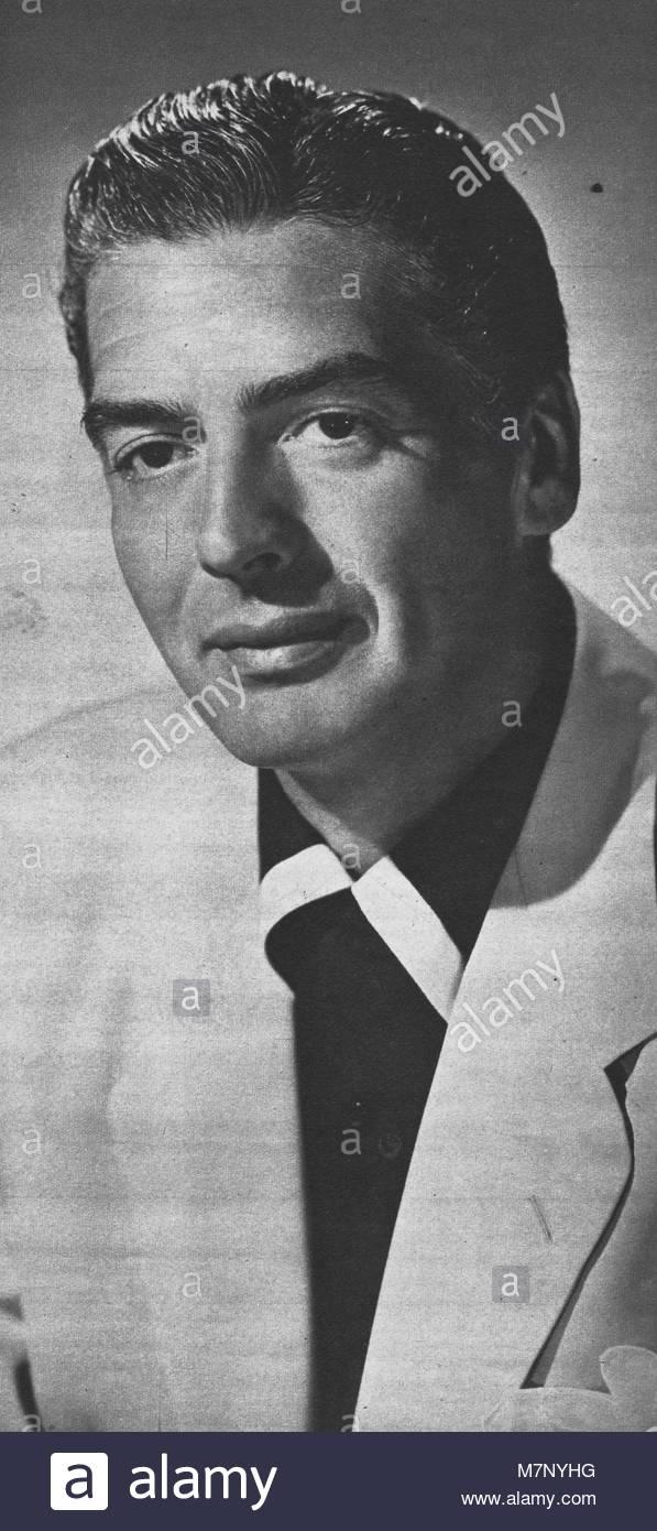 Victor Mature (Januar 29, 1913 - August 4, 1999) war ein US-amerikanischer Bühnen-, Film- und TV-Schauspieler, Stockbild