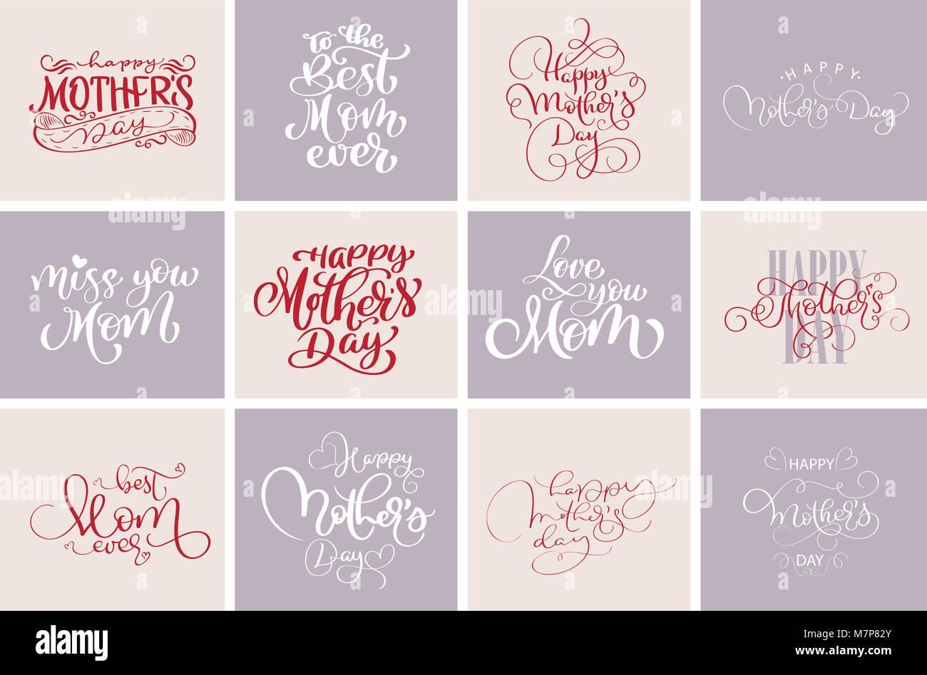 Happy Muttertag Zitate, beste Mama immer. Der Vektor t-shirt oder ...