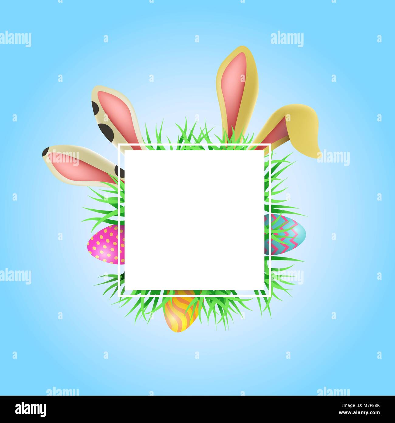 Frohe Ostern Urlaub Abbildung: Vorlage. Leeren Rahmen mit Kopieren ...