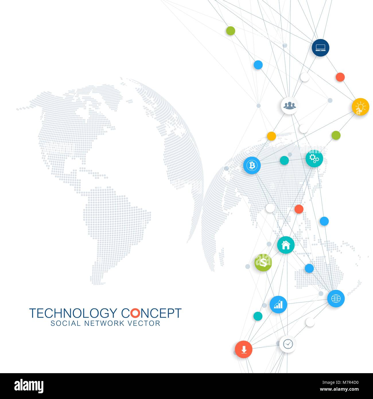Abstrakte business Vektor Infografik. Cloud Computing und das ...