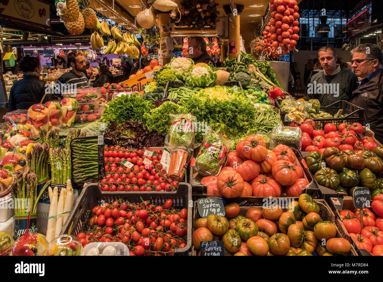 Boqueria Markt, Barcelona, Katalonien, Spanien Stockbild
