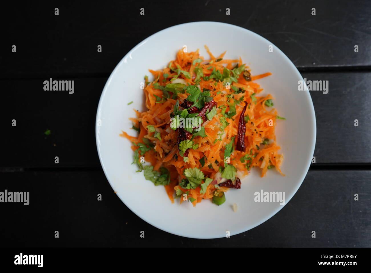 Gesunde Karottensalat Stockbild