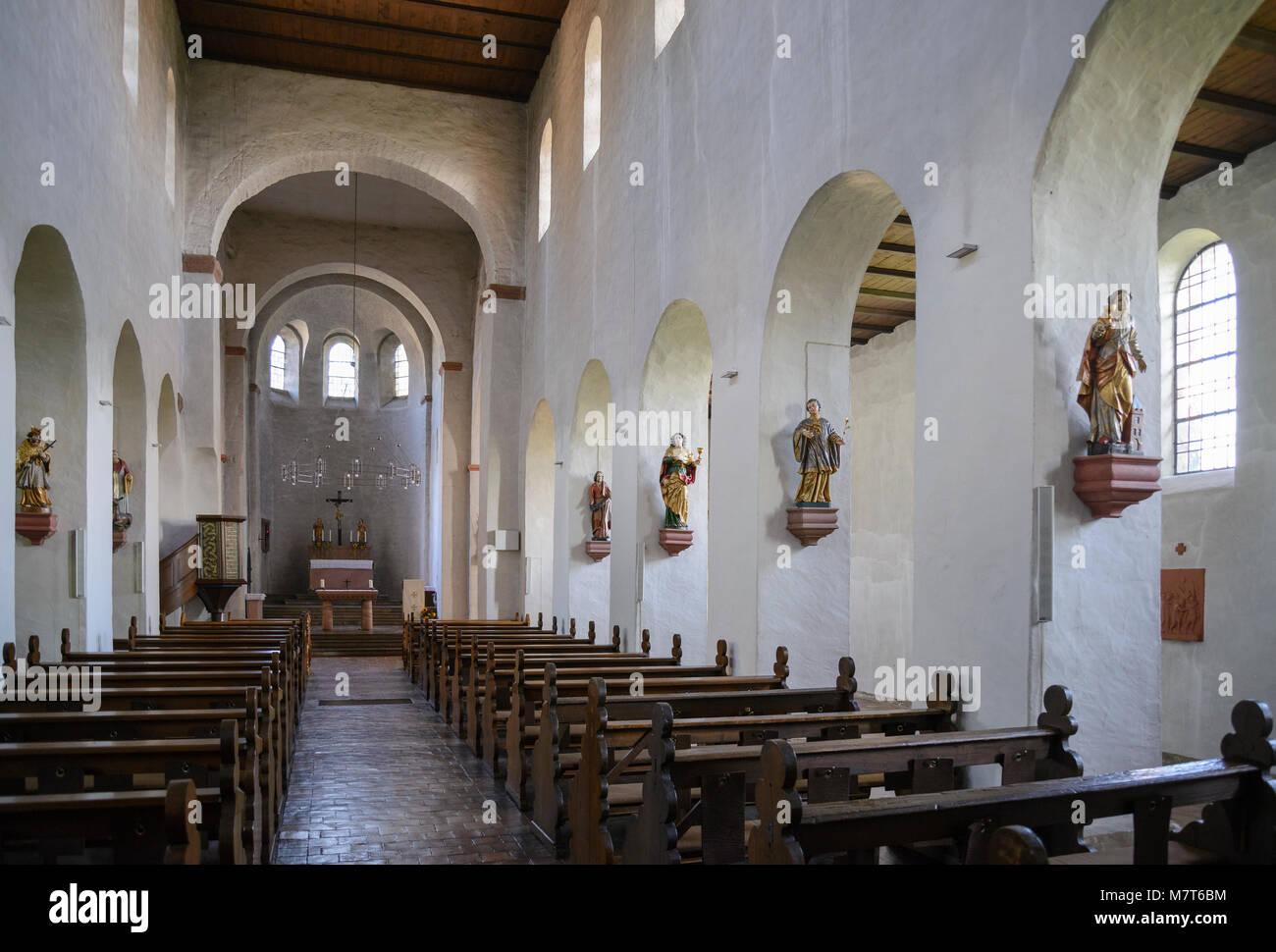 Mittelheim Basilika, Oestrich-Winkel, Rheingau, Hessen, Deutschland Stockbild