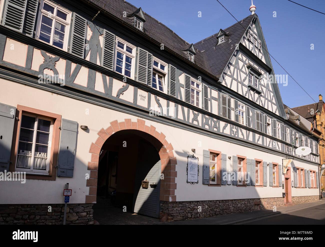 Zehnthof, Oestrich-Winkel, Rheingau, Hessen, Deutschland Stockbild