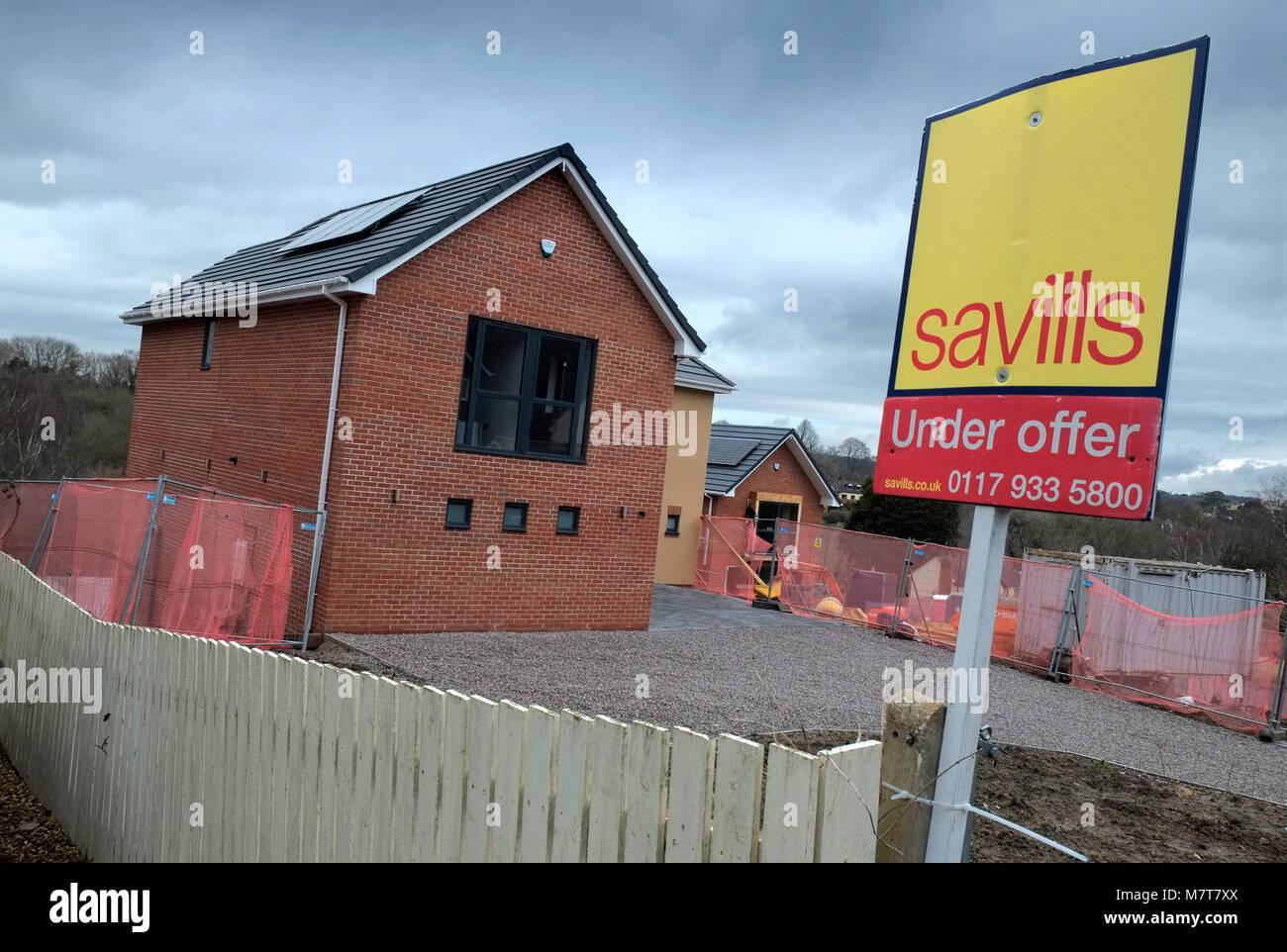 Neubau Luxus Einfamilienhaus in Sneyd Park, Bristol, UK. Stockfoto