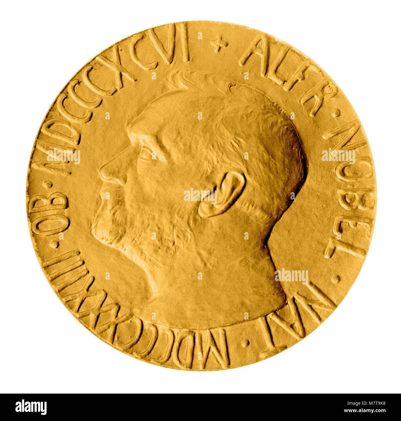 Replica Friedensnobelpreis-medaille Stockbild