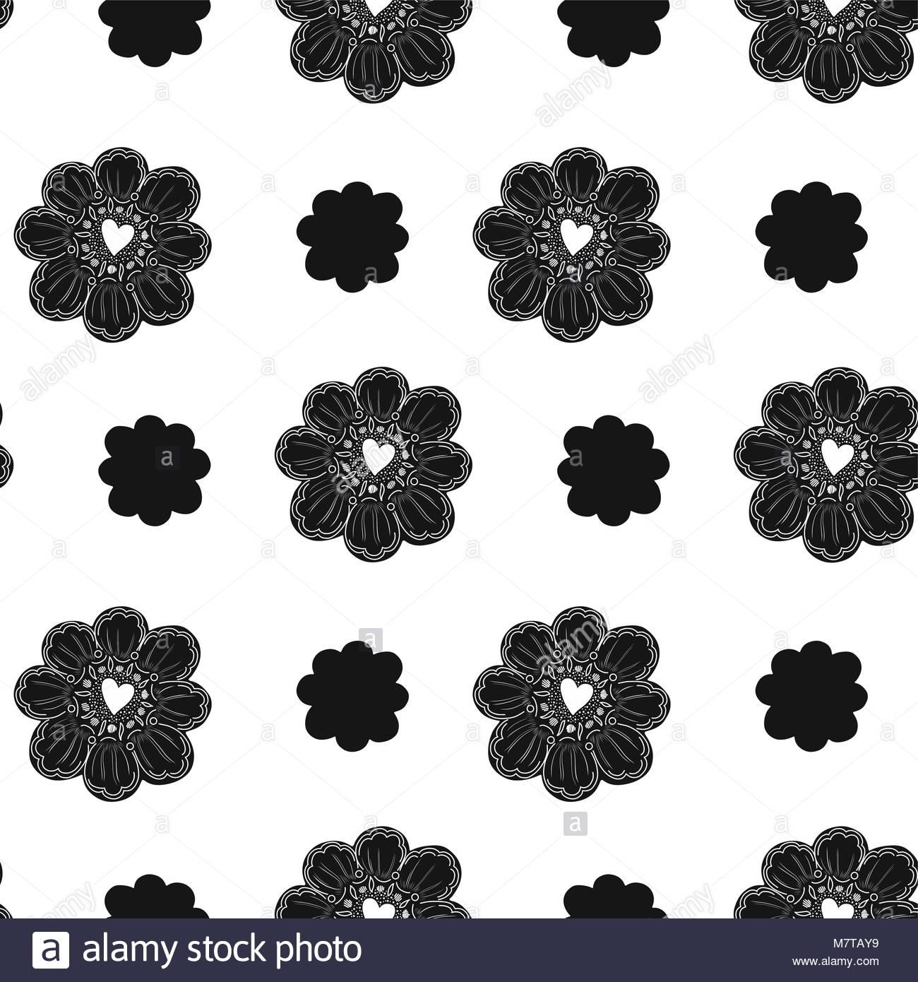 Nahtlose Muster. Einfache Blume Element. Doodle Dekoration. Einfach ...