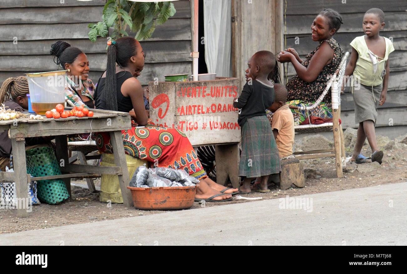 Das Leben auf den Straßen von Goma, D.R.C Stockbild