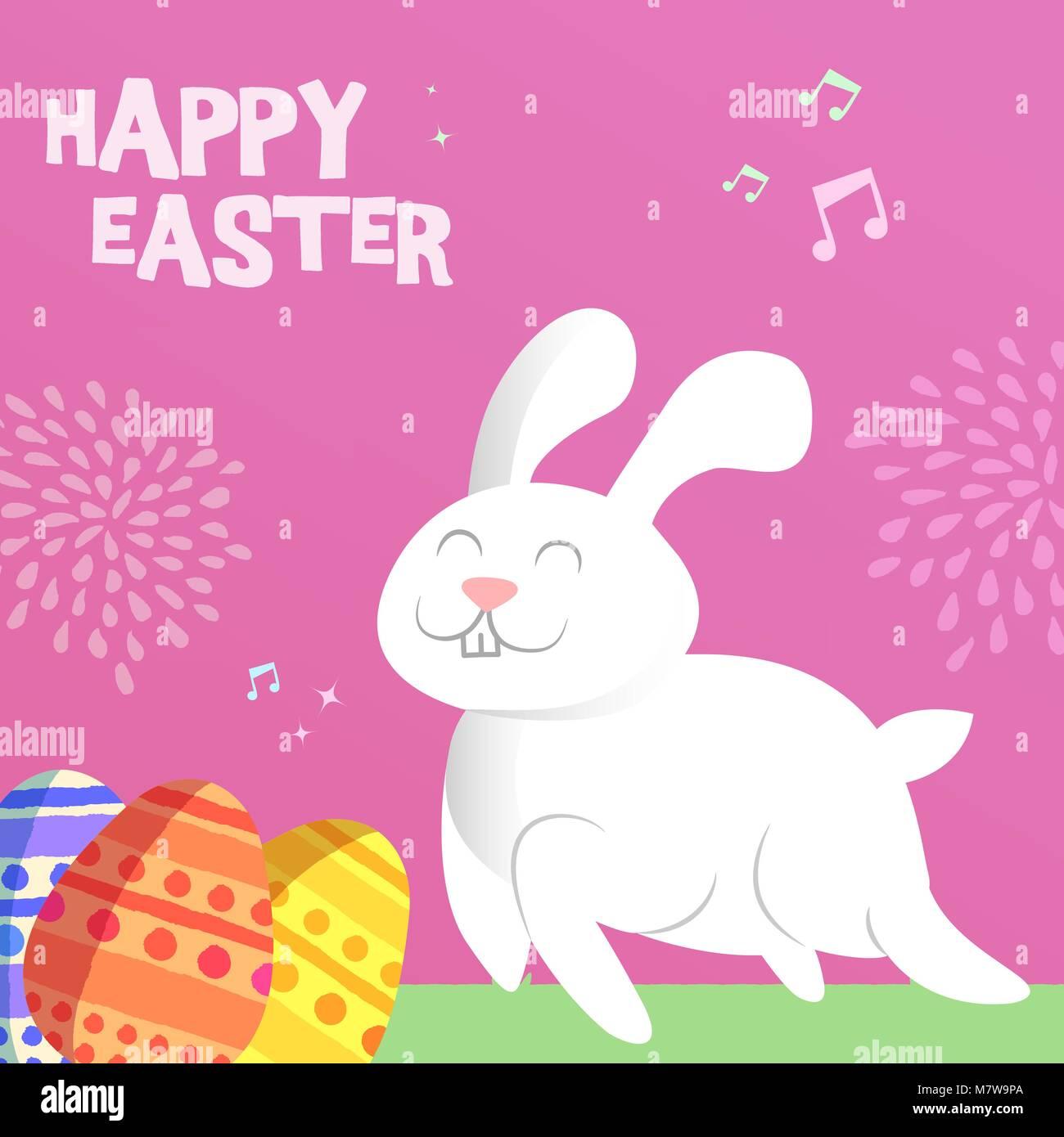 Frohe Ostern Grußkarte Illustration Für Frühlingsfest Veranstaltung