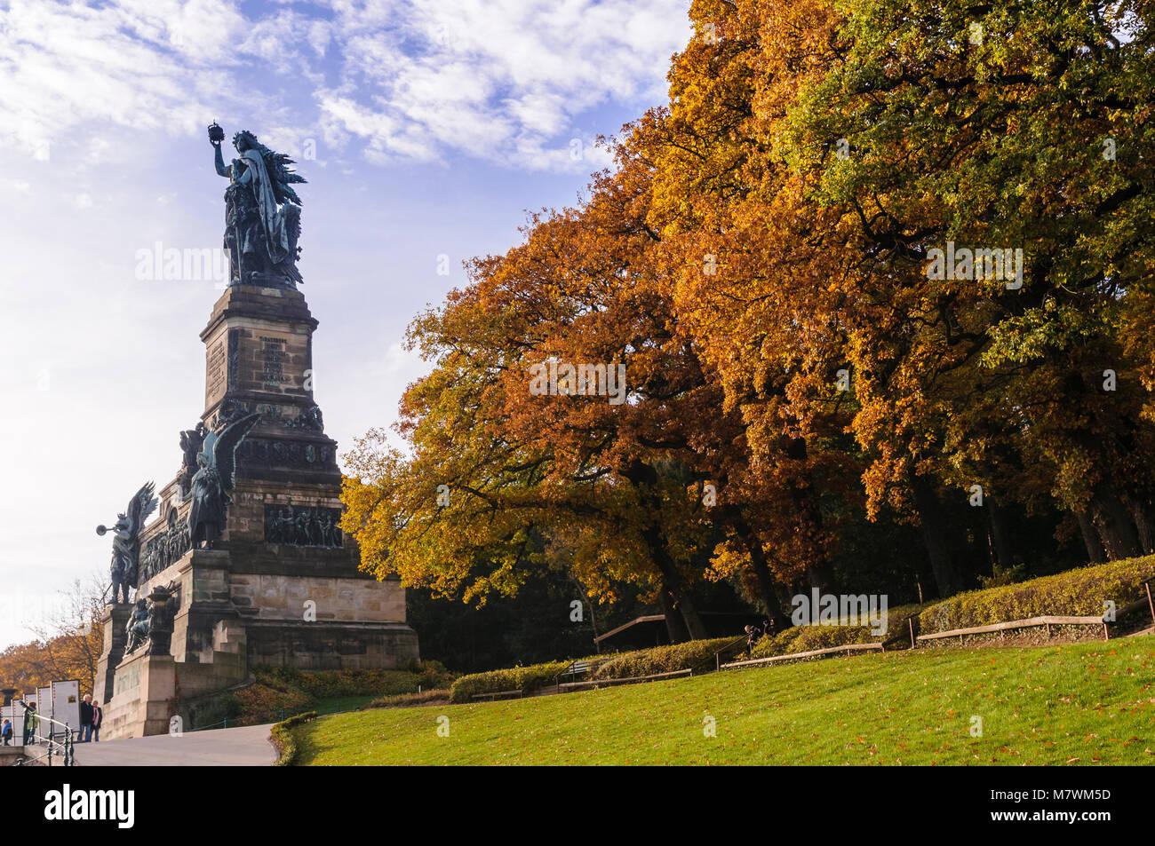 Niederwalddenkmal, Rüdesheim, Rheingau, Hessen, Deutschland Stockbild