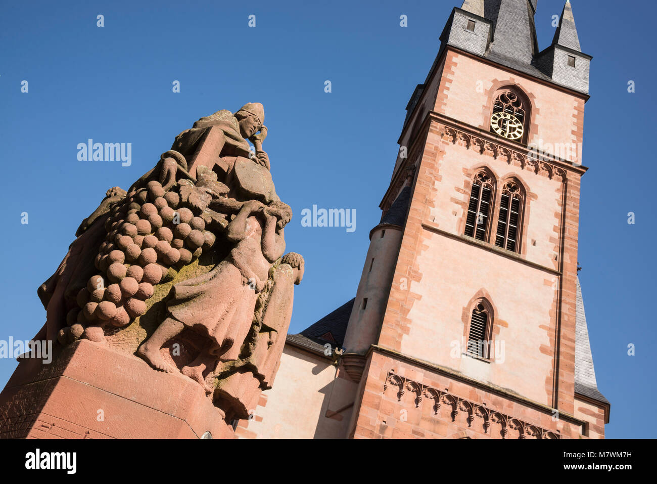 St. Valentinus, Kiedrich, Rheingau, Hessen, Deutschland Stockbild