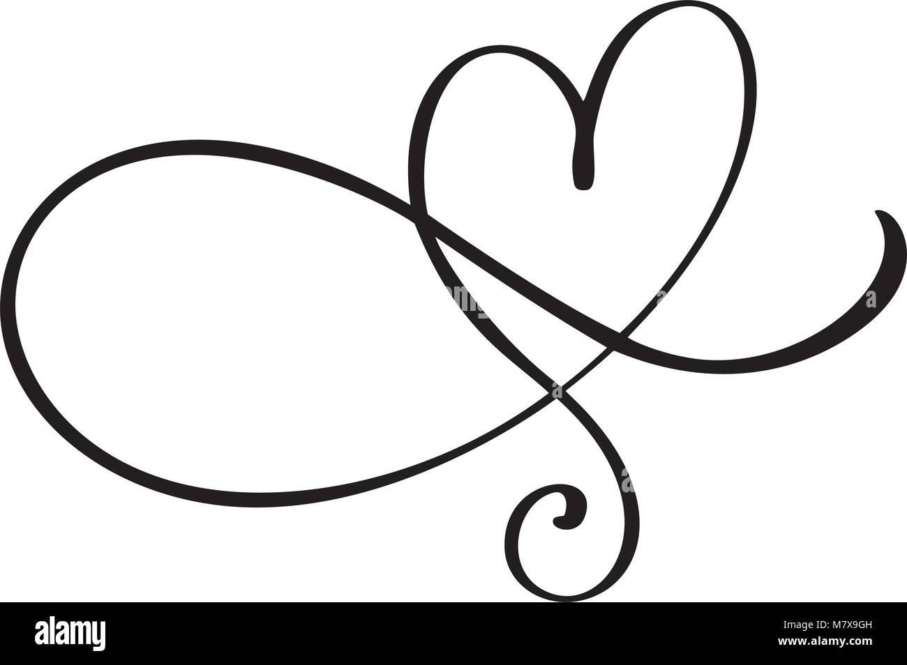 Herz Liebe Zeichen gedeihen. Romantische Symbol verknüpft, beitreten ...