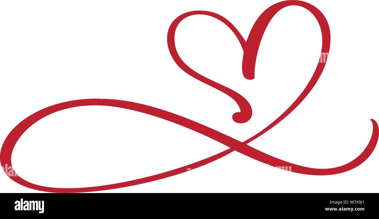 Herz Liebe für immer Zeichen gedeihen. Infinity romantische Symbol ...
