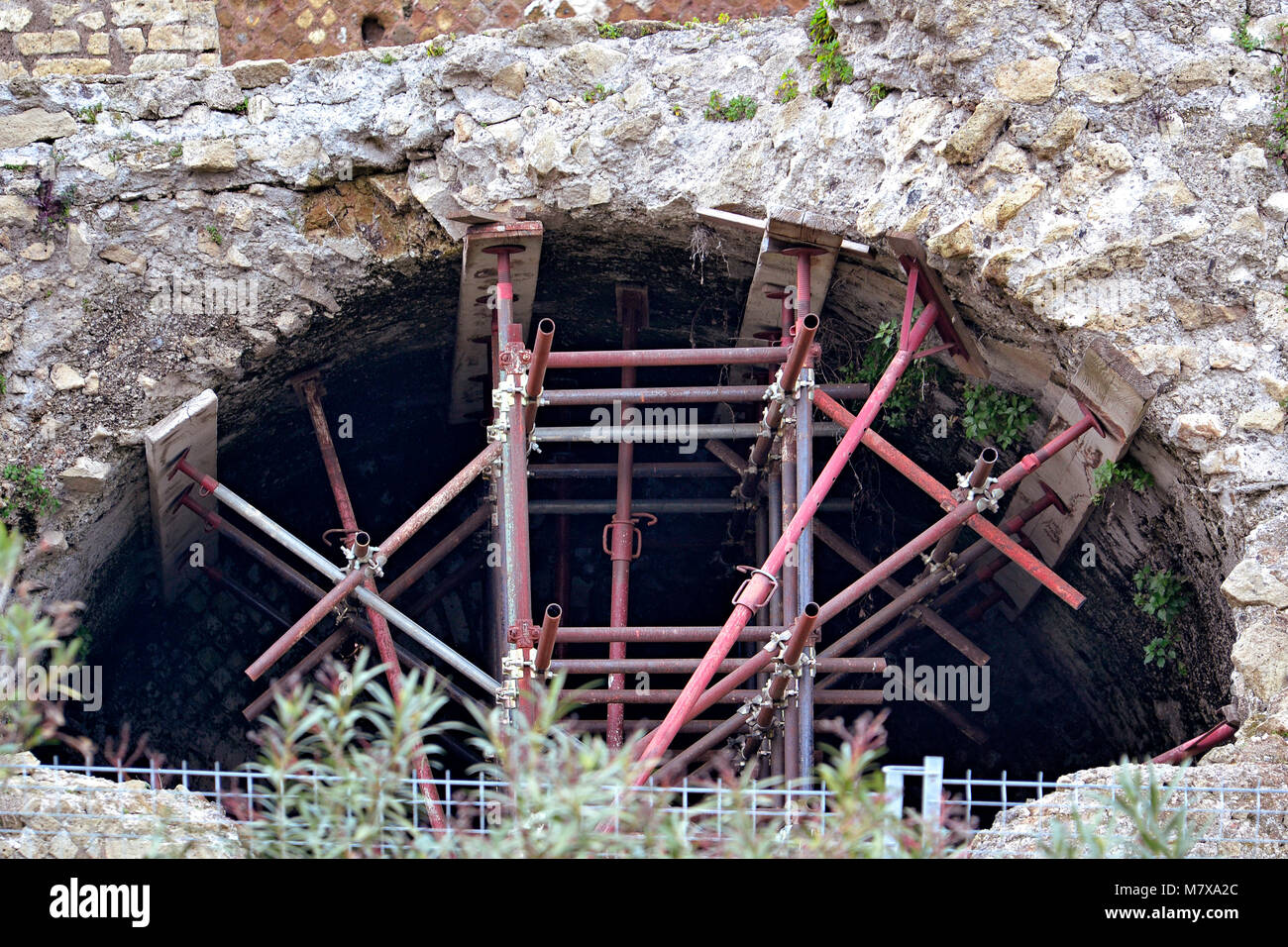 Konsolidierung Werke, Pompeji Stockbild