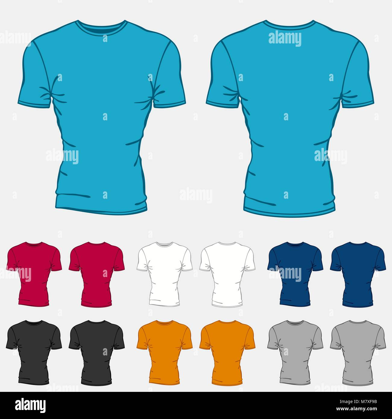 Blank T Shirts Template Front Back Stockfotos & Blank T Shirts ...