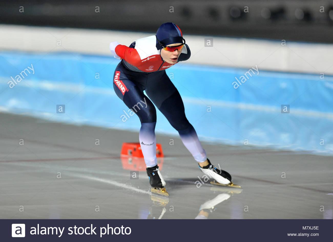 Amsterdam Die Niederlande 10 März 2018 Wm Allround Eisschnelllauf