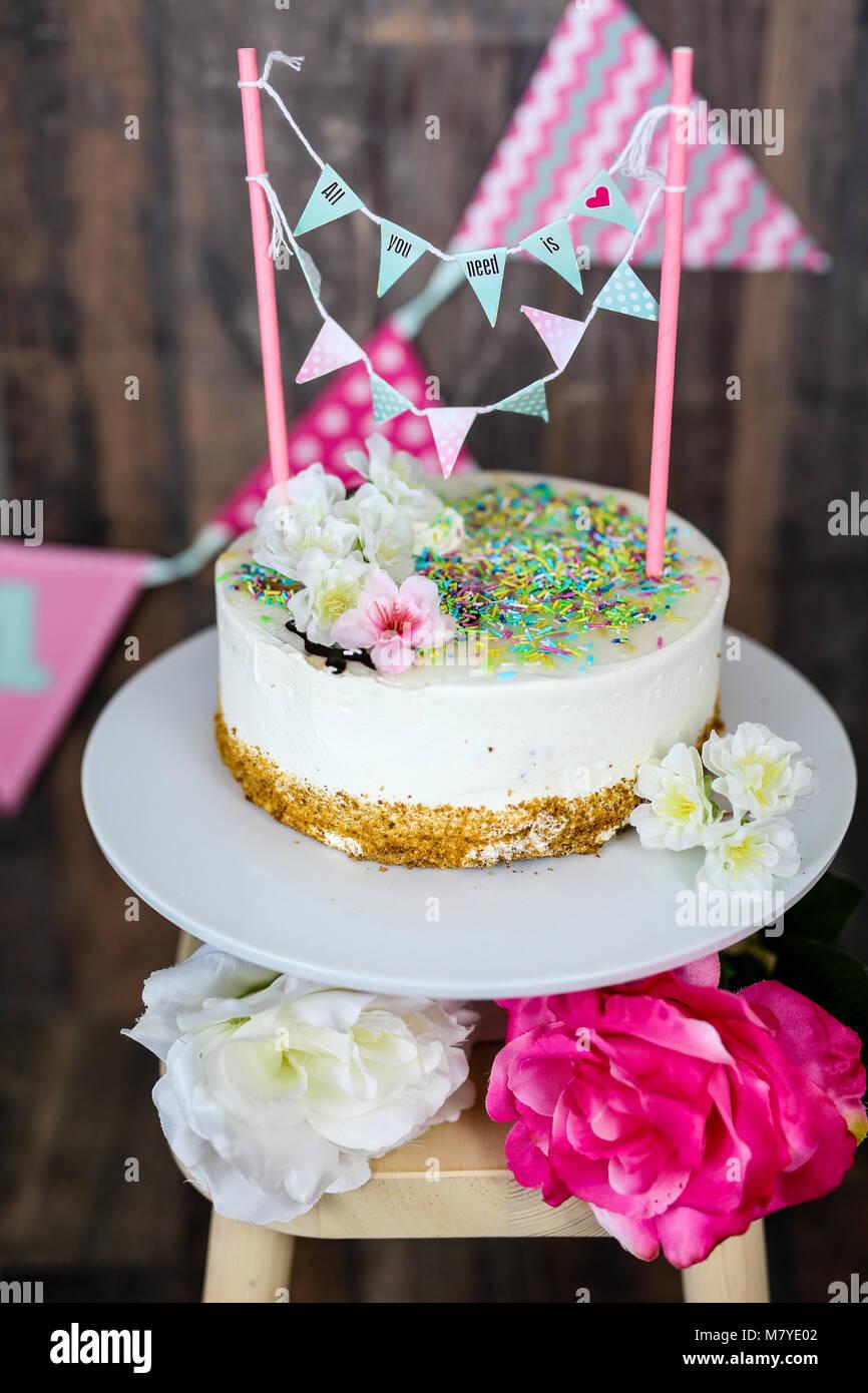 Kuchen smash Stockbild