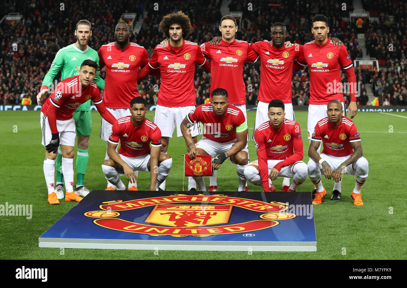 Manchester United Gruppe vor dem UEFA Champions League ...