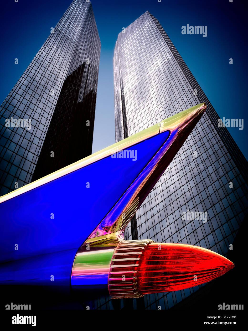 Finanzkonzept: Deutsche Bank, Frankfurt am Main, Deutschland Stockbild