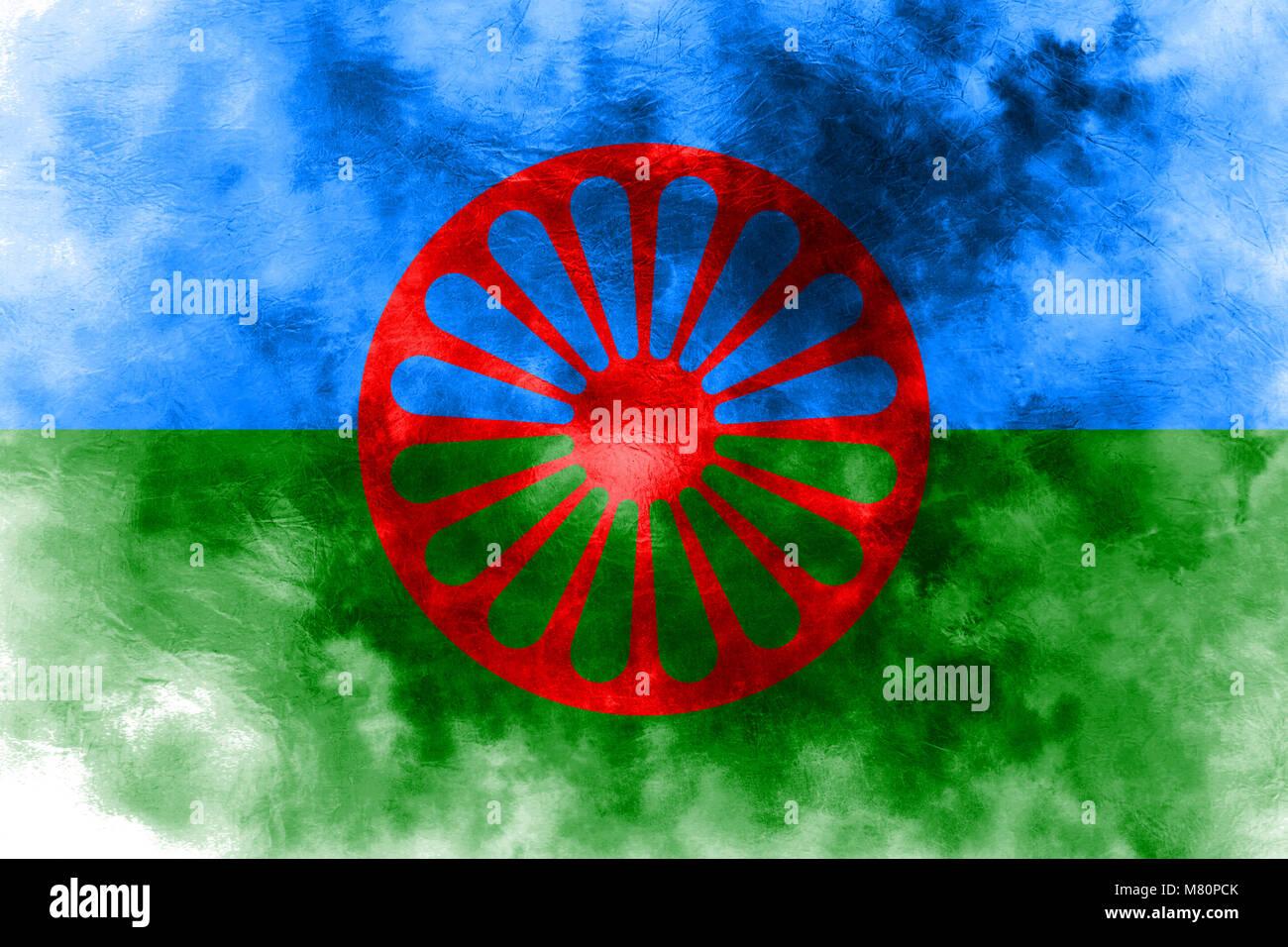 Romani People Flag Stockfotos & Romani People Flag Bilder
