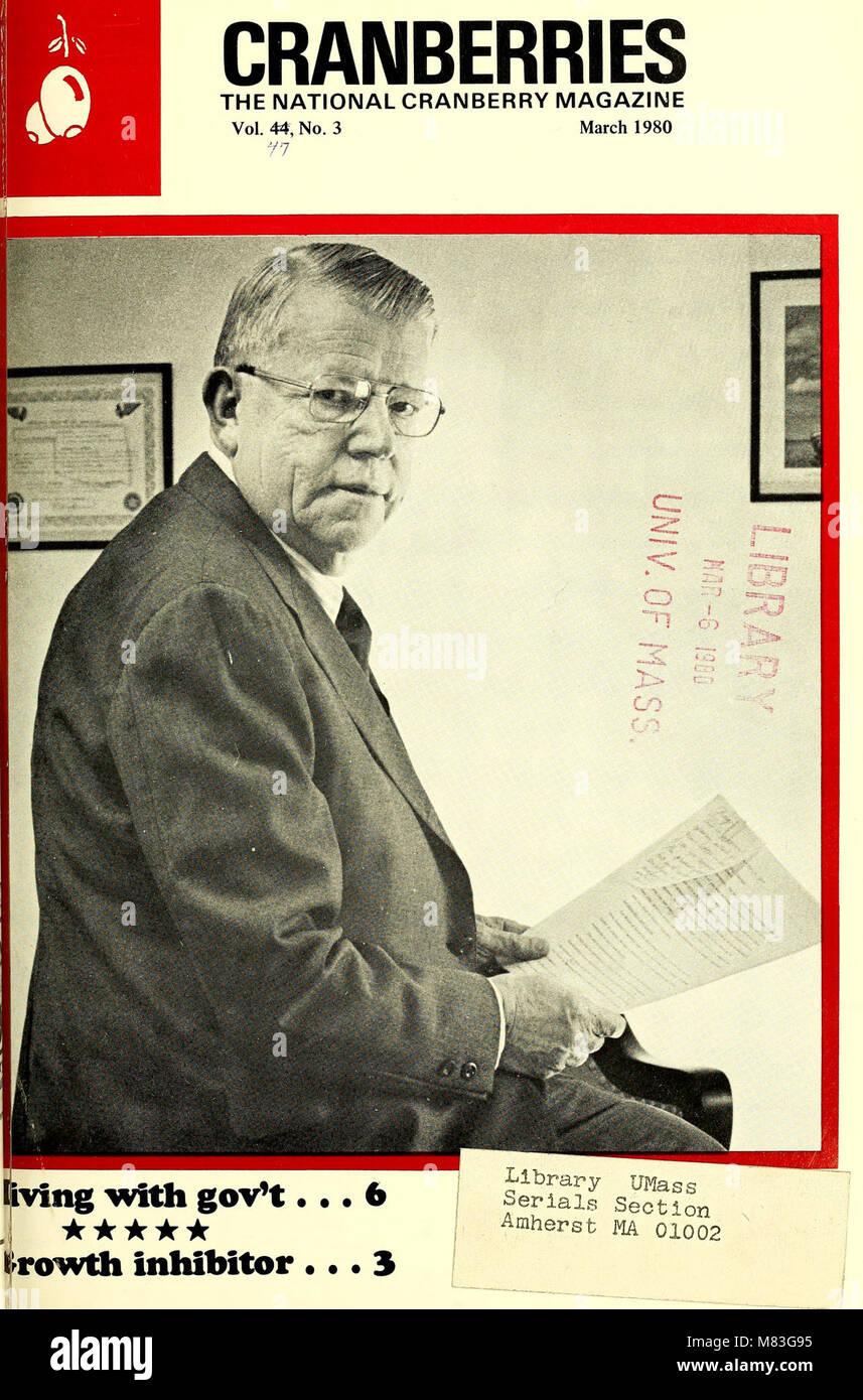 Preiselbeeren; - die nationalen cranberry Magazin (1980) (20519247340) Stockfoto