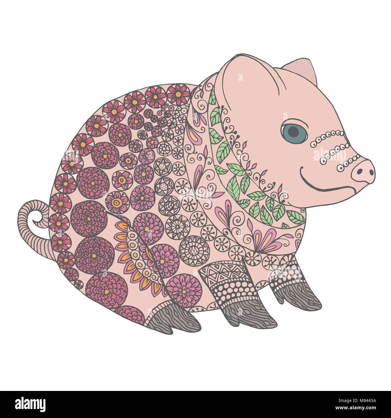 Illustration Little Pig Stockfotos & Illustration Little Pig Bilder ...