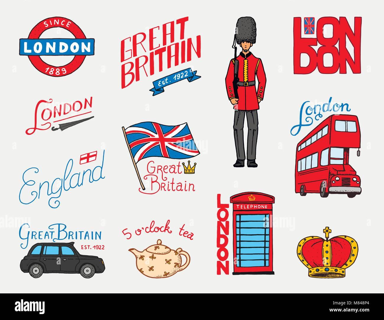 Britische logo krone und k nigin teekanne mit kaffee bus und royal guard london und die - Englisch krone ...
